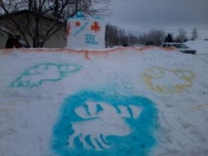 Winterfest 2013 Snow Sculpture - Front
