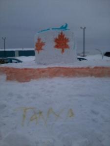 Winterfest 2013 Snow Sculpture - side